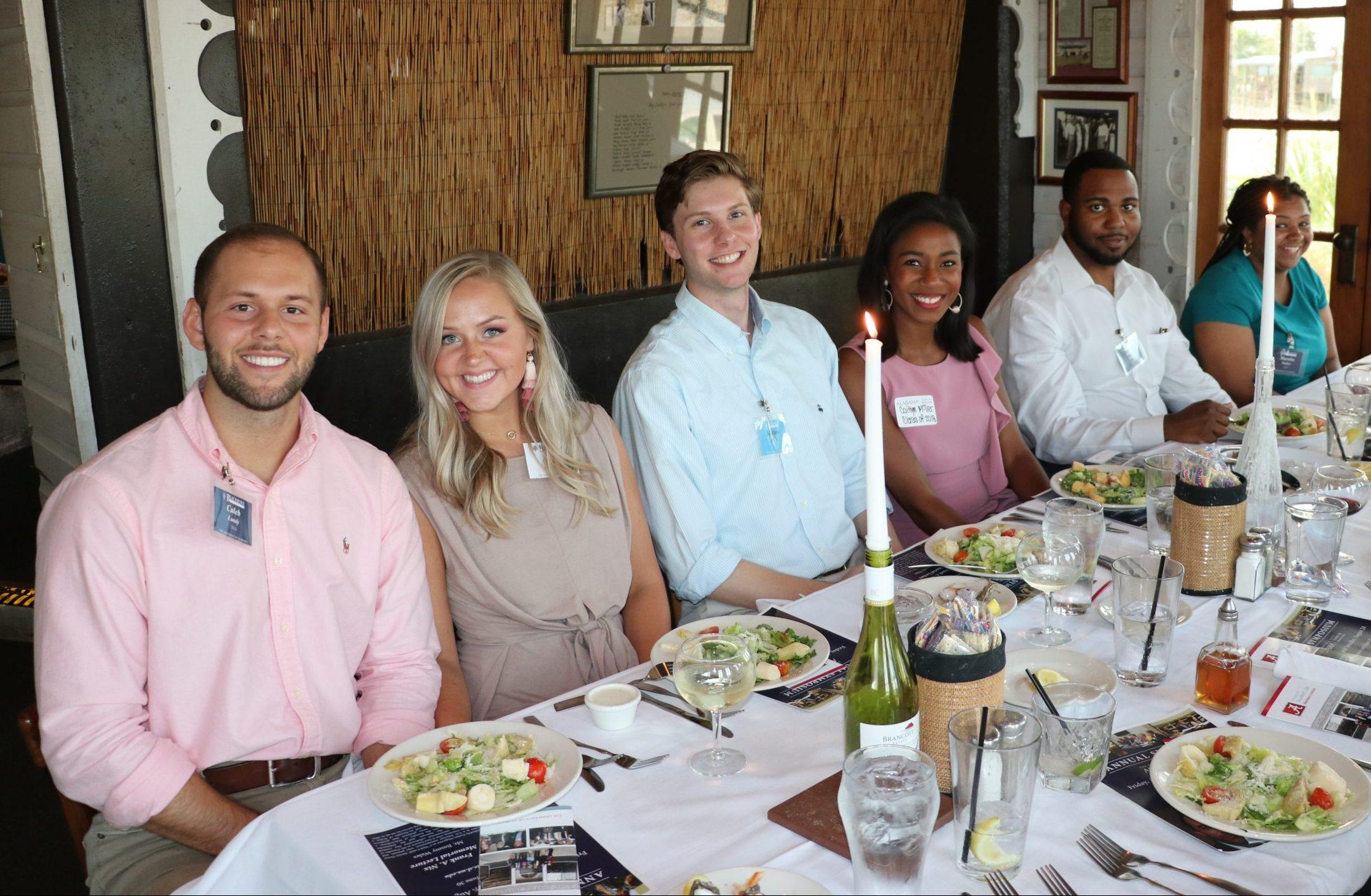 Blackburn members connecting over dinner