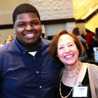 Aaron Brazelton (2014 Fellow) and Bobbie Siegal (Blackburn Advisory Board and Blackburn Society)