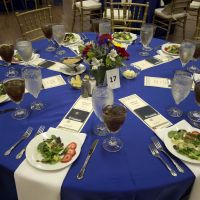 Table setting for the formal community dinner