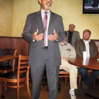 Spring 2015 - State Representative AJ McCampbell addressing students at a gathering in Demopolis, AL